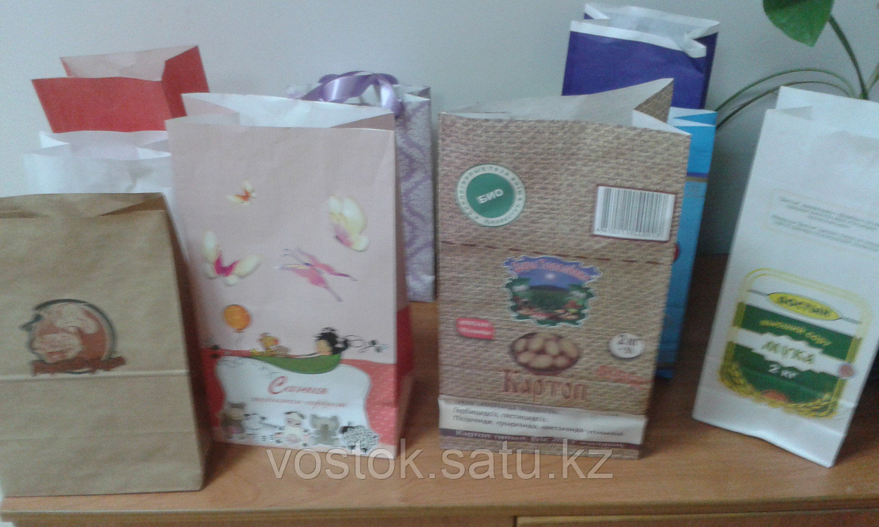 Бумажный пакет на заказ Зеленый - фото 5