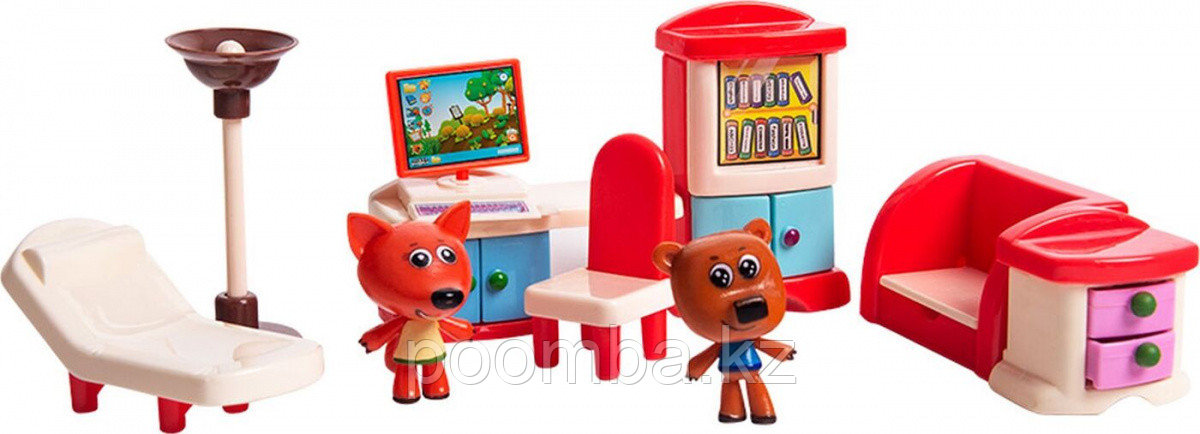 """Игровой набор Ми-ми-мишки """"Кеша, Лисичка, столовая"""""""