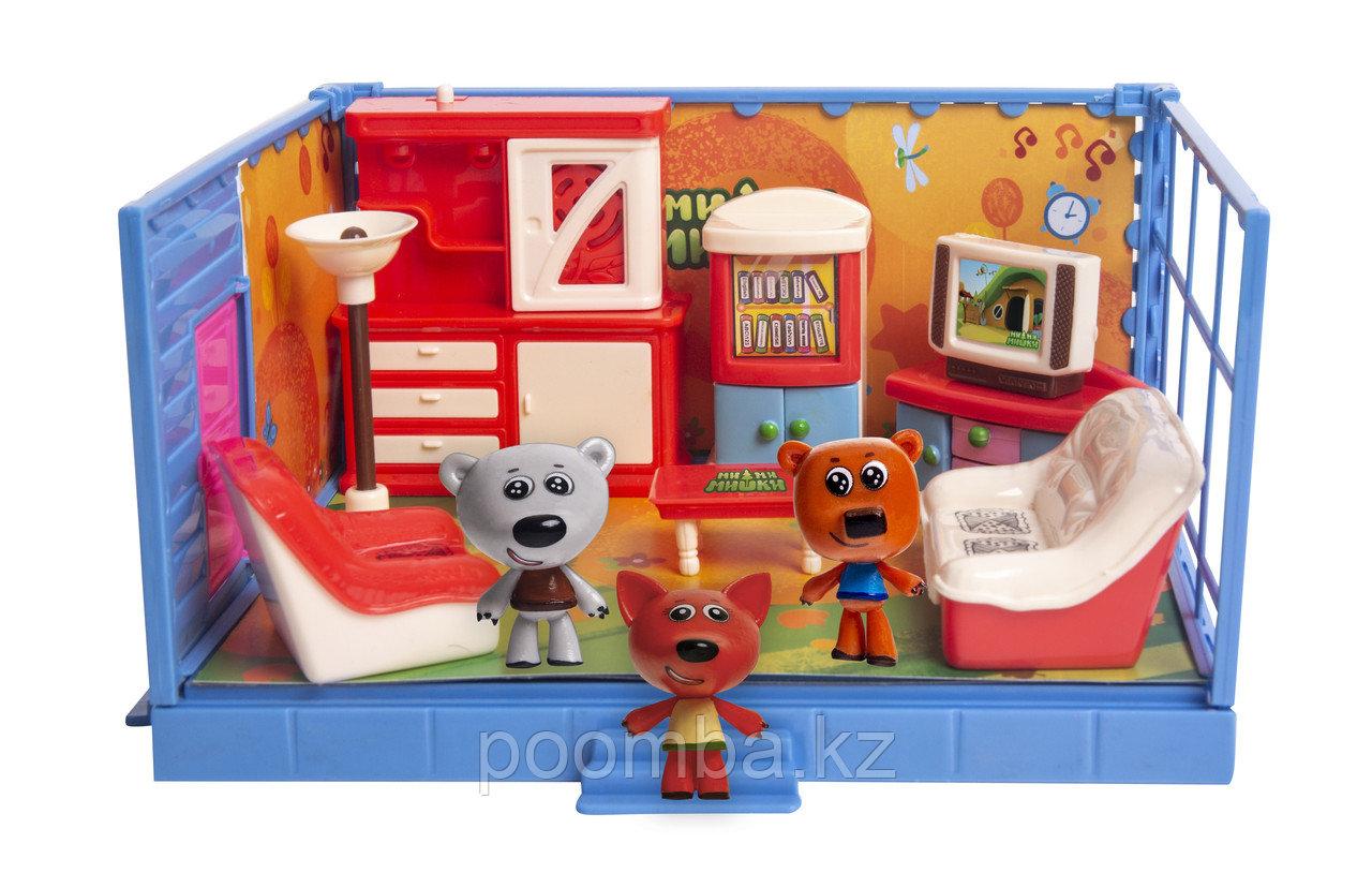 Игровой набор МИ-МИ-МИШКИ, Кеша, Тучка и Лисичка, Гостиная, 12 деталей.