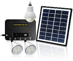 Светильник на солнечной батарее 4W Solar Kit with 3 Led Lights