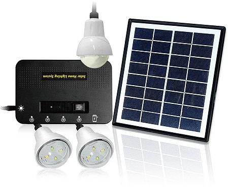 Светильник на солнечной батарее 4W Solar Kit with 3 Led Lights, фото 2