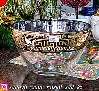 Салатник стеклянный, с декором. Цвет: Прозрачный. Набор: 1 штука.