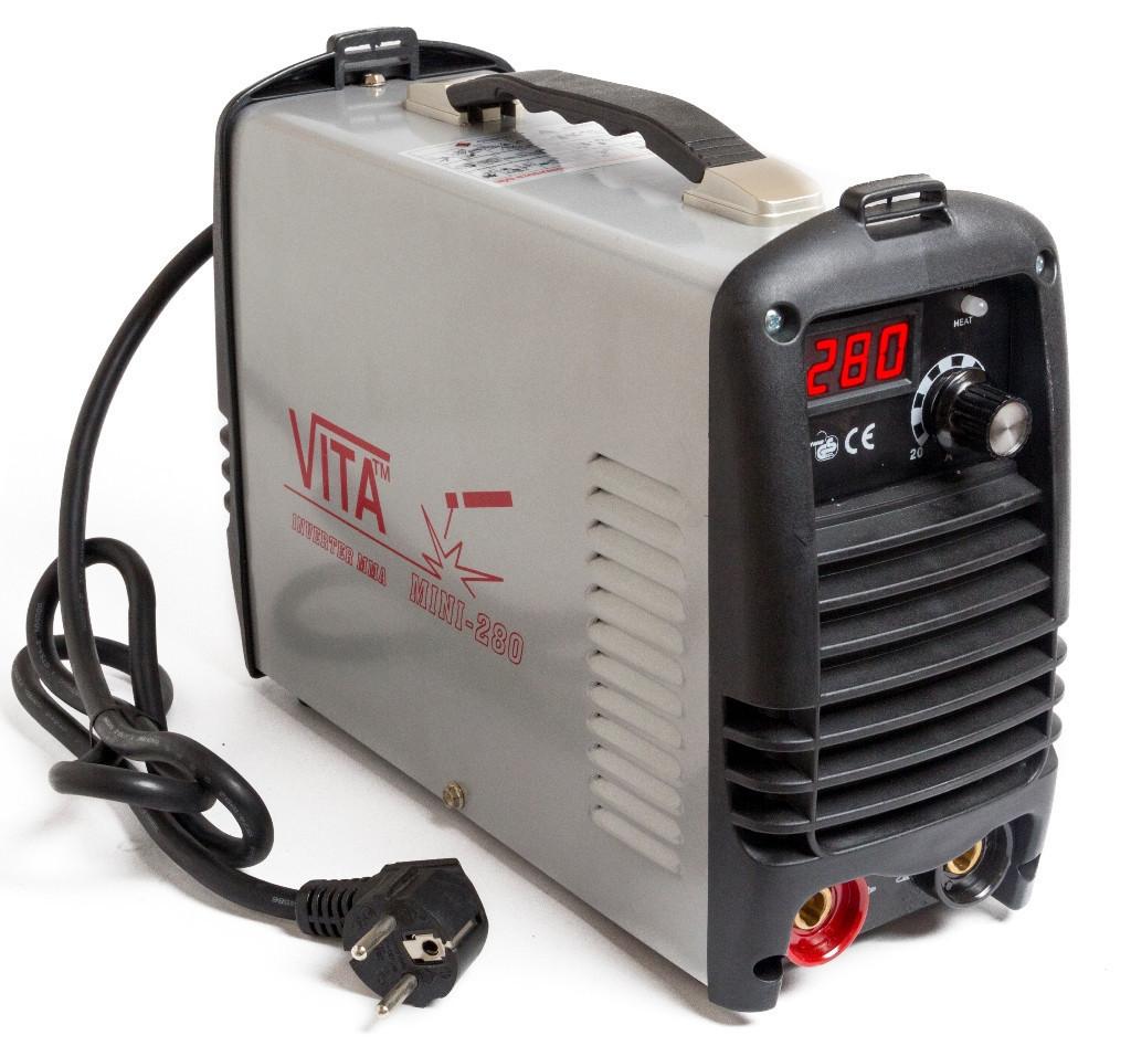 Сварочный инверторный аппарат ММА-280 mini VITA в металлическом кейсе (SI-0005)