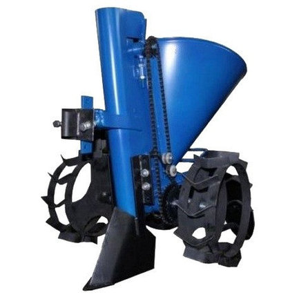 Картофелесажатель Кентавр К-1Л (синий) с транспортировочными колесами, фото 2