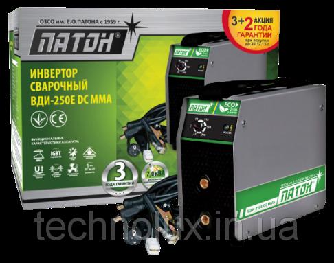 Сварочный инвертор ПАТОН ВДИ-250E DC MMA без кабелей, фото 2