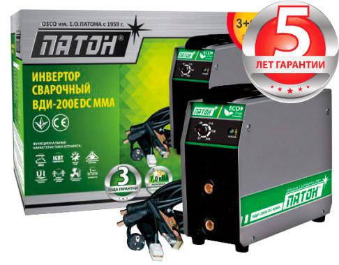 Сварочный инвертор ПАТОН ВДИ-200E DC MMA без кабелей