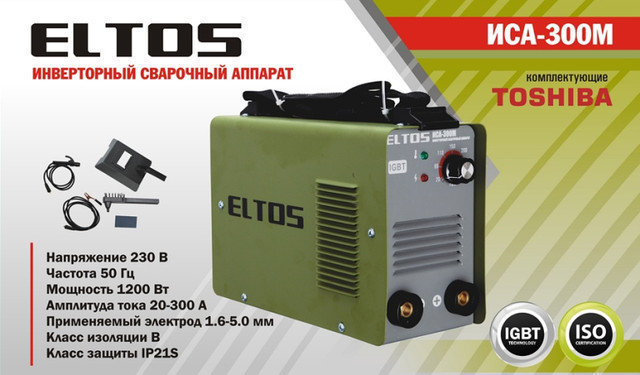 Сварочный инвертор Eltos 300И mini, фото 2