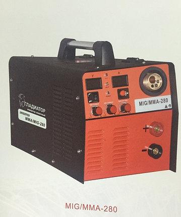 Сварочный инверторный полуавтомат Гладиатор MIG/MAG/MMA 280, фото 2