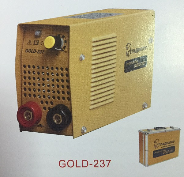 Сварочный инвертор Гладиатор 237 Gold Алюминиевый кейс