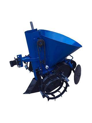 Картофелесажатель мотоблочный Кентавр К-1Ц (синий), фото 2