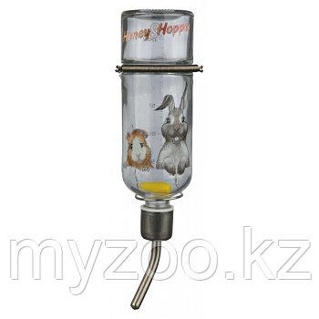 Механическая стеклянная поилка Honey & Hopper .Объем 500мл.