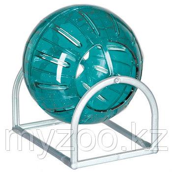 Игрушка шар на стойке для грызунов. Может использоваться без стойки.Скрышкой.17см