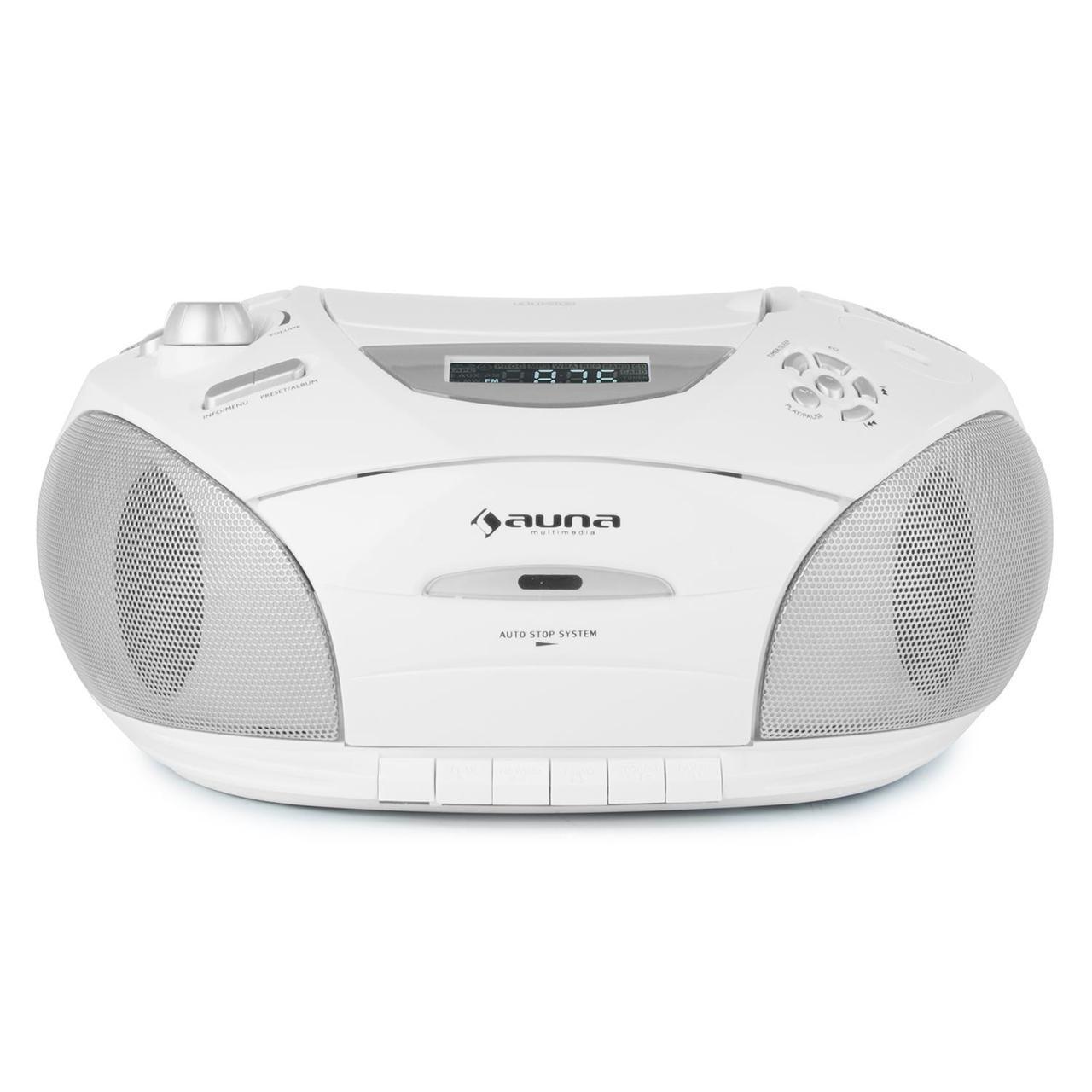 RCD 220 Boombox CD USB Кассетная колодка PLL FM-радио MP3 White