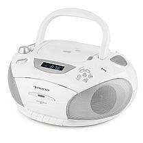 RCD 220 Boombox CD USB Кассетная колодка PLL FM-радио MP3 White, фото 2