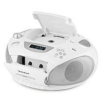 RCD 220 Boombox CD USB Кассетная колодка PLL FM-радио MP3 White, фото 3
