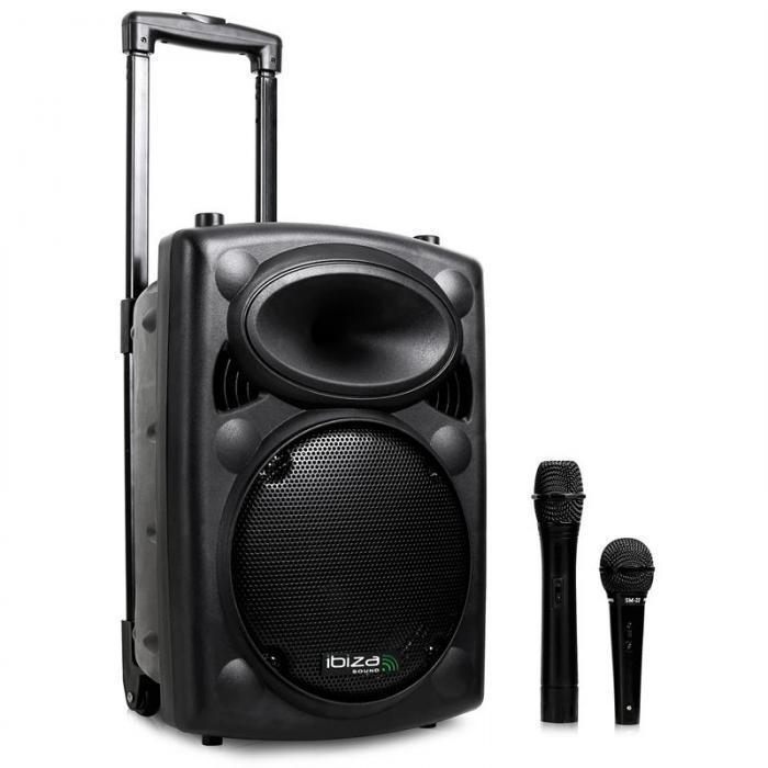 Переносная аудиоколонка VHF-BT Mobile PA System USB-SD-MP3 Bluetooth 500 Вт