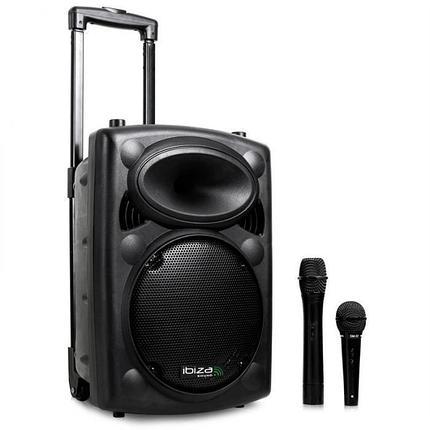 Переносная аудиоколонка VHF-BT Mobile PA System USB-SD-MP3 Bluetooth 500 Вт , фото 2