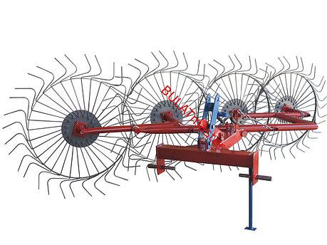 Грабли ворошилки (Солнышко) для мини-трактора (Украина-Польша) толщина проволоки - 6мм, фото 2