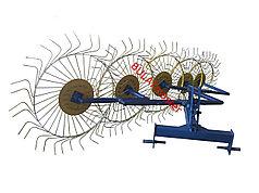 Грабли ворошилки  5-ти колесные для трактора усиленные 6мм