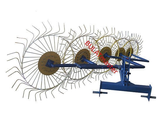 Грабли ворошилки  5-ти колесные для трактора усиленные 6мм, фото 2