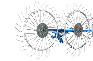 Грабли ворошилки для мотоблока навесные 4-х колесные (заводские ГОСТ, граблина 5мм), фото 2