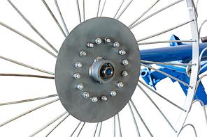 Грабли ворошилки для мотоблока навесные 4-х колесные (заводские ГОСТ, граблина 5мм), фото 3