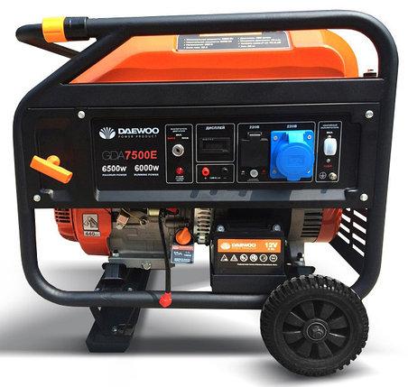 Бензиновый генератор Daewoo GDA 7500E, фото 2