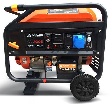 Бензиновый генератор Daewoo GDA 8000E, фото 2