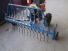 Грабли (AGROLUXE) для мотоблока, крепление спереди мотоблока, фото 3