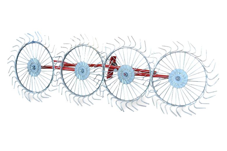 Грабли - ворошилки (солнышко)  навесные 4-х колесные (AGROLUXE, толщина спицы 5мм, оцинкованные)