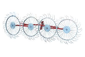 Грабли - ворошилки (солнышко)  навесные 4-х колесные (AGROLUXE, толщина спицы 5мм, оцинкованные), фото 2
