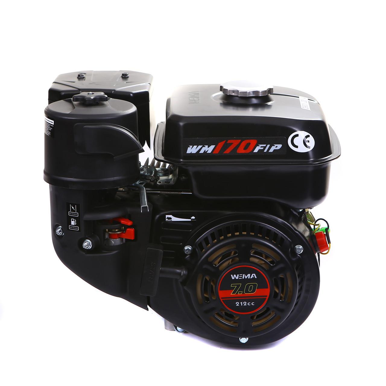 Двигатель WEIMA(Вейма) WM170F-L (R, редукт цепь 1/2, 1800об/м, шпонка)
