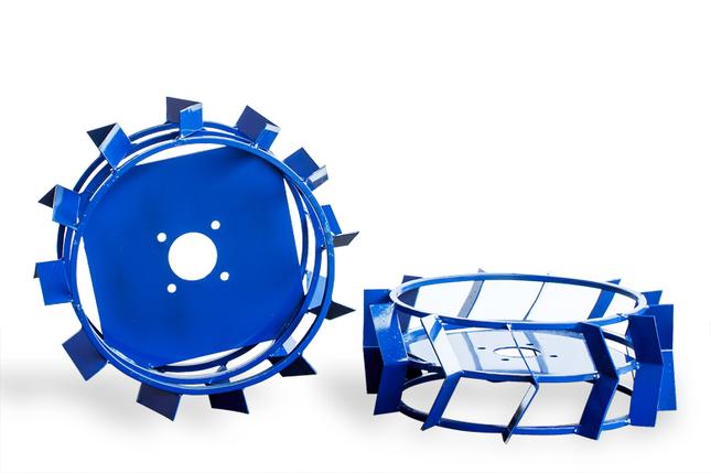 Грунтозацепы для мотоблока(железные колеса) ф 450/160 квадрат 10 х 10, фото 2