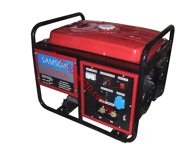 Генератор cварочный бензиновый Samson SQ-190A завод изготовитель WEIMA