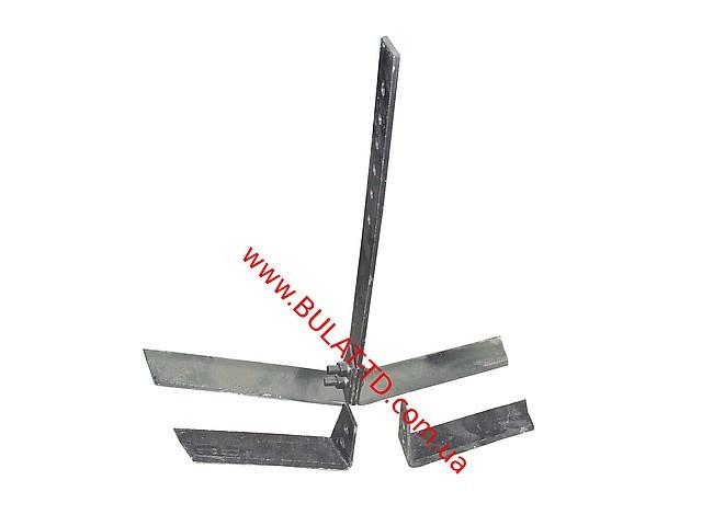 Плоскорез пропольник для мотоблоков и мотокультиваторов, универсальный, со сменными ножами