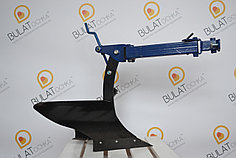 Плуг с опорным колесом для мотоблока регулируемый
