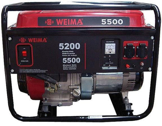 Бензиновый генератор WEIMA(Вейма) WM5500E, фото 2