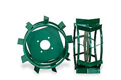Грунтозацепы для мотоблока(железные колеса) ф 380/160 труба 15х15