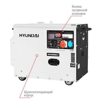 Дизельный генератор Hyundai DHY 6000SE-3, фото 2