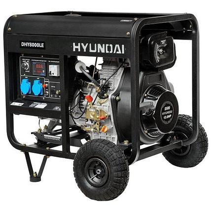Генератор дизельный Hyundai DHY 8000LE, фото 2