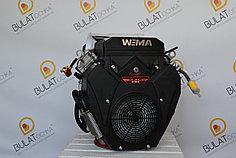 Двигатель WEIMA  WM2V78F-2цил. (вал конус и шпонка), бензин  20,0 л.с.