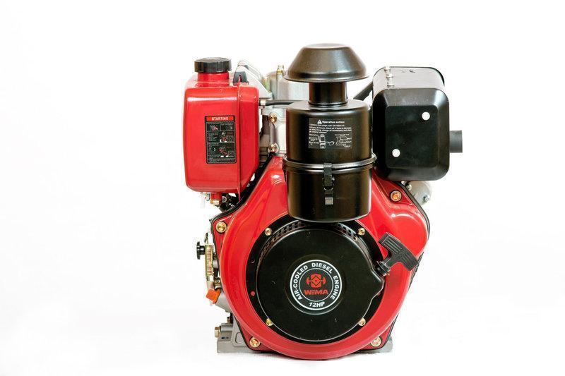 Двигатель дизельный Weima WM188FBE (вал под шпонку) 12 л.с. эл.старт, съемный цилиндр