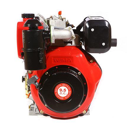Двигатель дизельный  Weima WM 186 FBSE (R) (вал ШПОНКА, 1800об/мин, для wm610ae), дизель 9.5л. с., фото 2