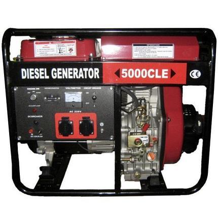Генератор дизельный WEIMA WM5000CLE (5 кВт, 1 фаза, электростартер) , фото 2