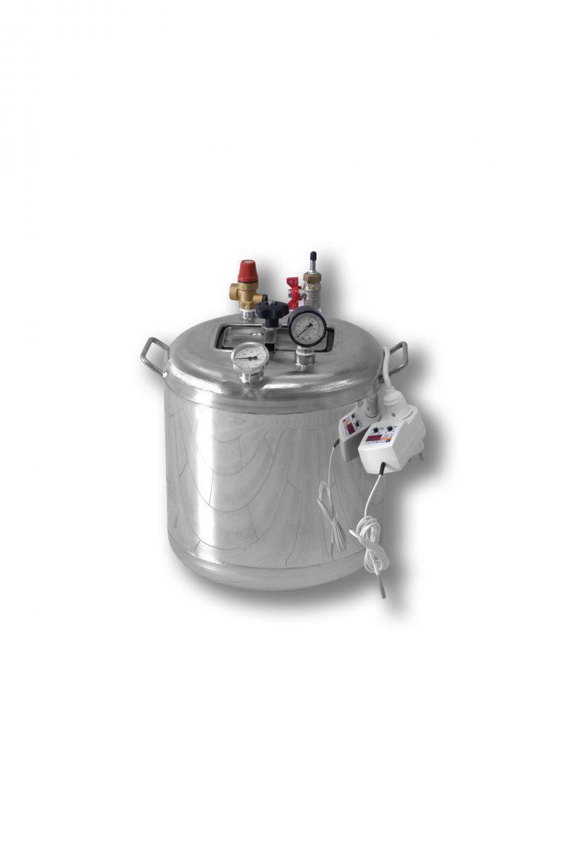 Автоклав электрический Гуд 8-electro (универсальный, 8 банок 0,5 л). Крышка поджимается изнутри