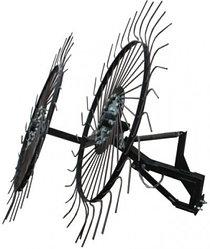 Грабли-ворошилки солнышко большие тракторные Премиум на 3 колеса (1,8м)