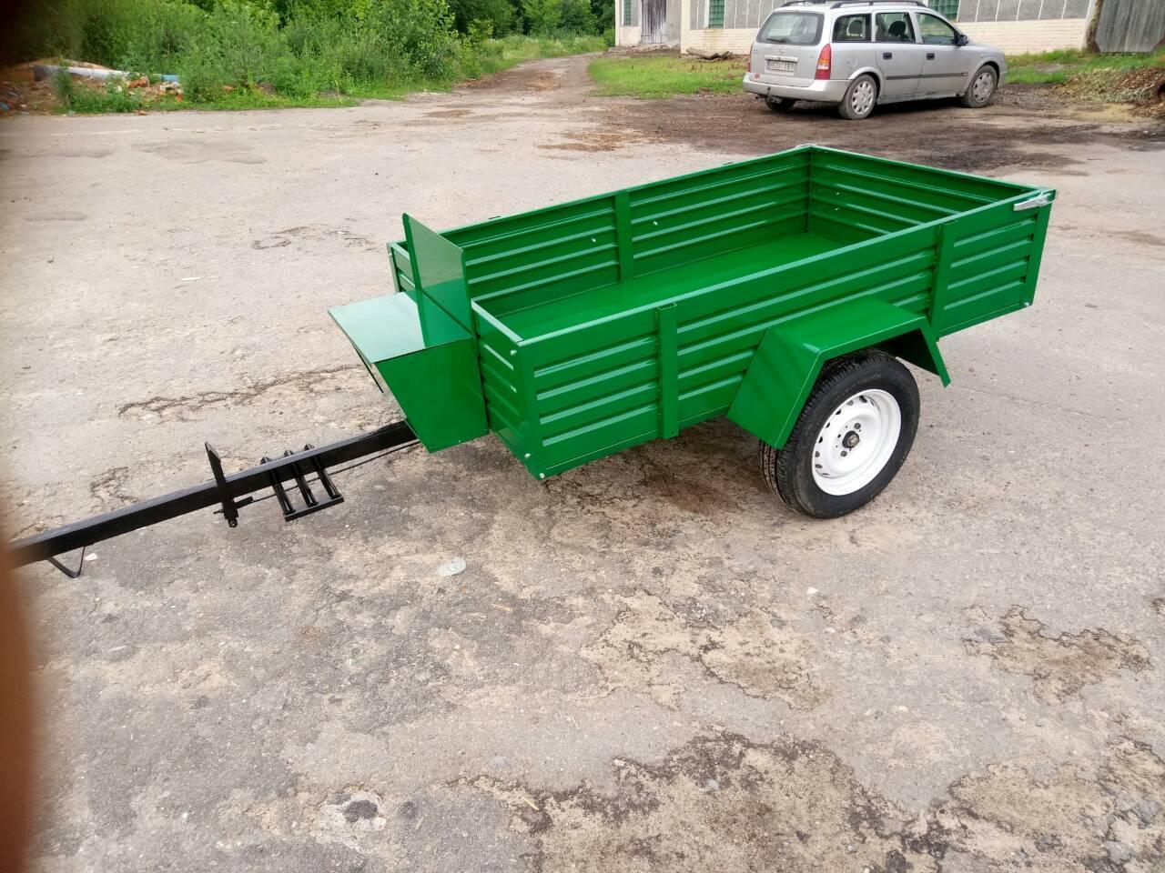 Прицеп мотоблочный ТМ ШИП сиденье со спинкой (190х115х38 см, под жигул. ступицу, без колес)