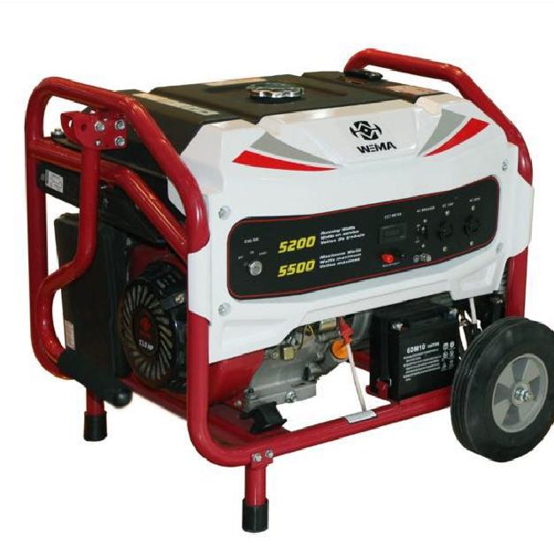 Генератор бензиновый WEIMA WM5500Е (5,5 кВт, электростартер, 1фаза)