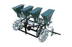 Сеялка овощная точного высева СТВМ-4 (4-рядная, мотоблок/мототрактор) Ярило