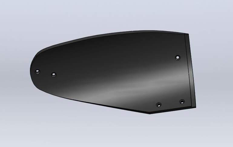 Отвал для плуга Полигон из композитного материала Tekrone